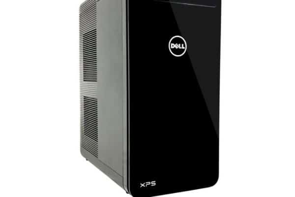 Image shows the Dell XPS 8930-7764BLK-PUS Desktop front and side panel