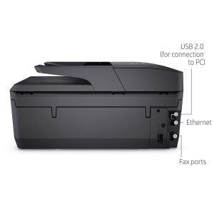 A side view of the HP OfficeJet Pro 6968 Printer