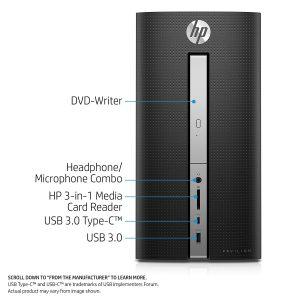 HP Pavilion 570-p030 Desktop ports