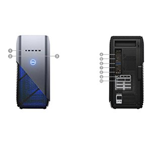 Image of the Dell Inspiron i5680-7813BLU-PUS Desktop Ports