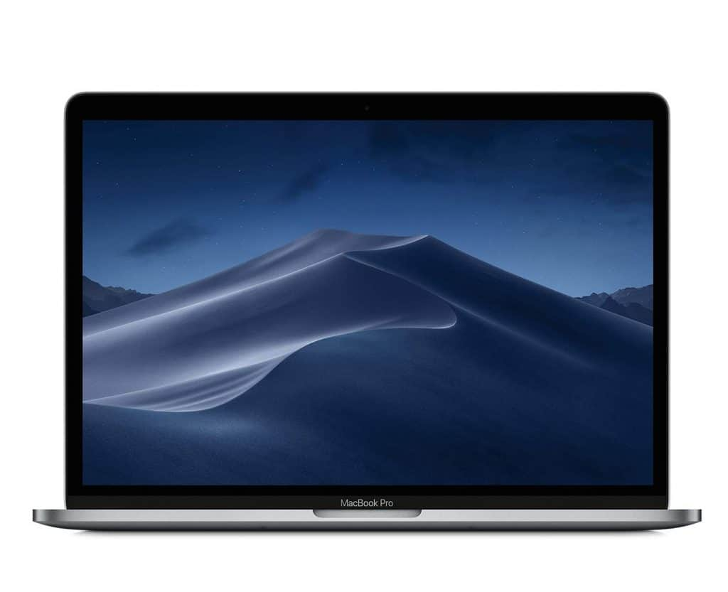 Image shows the front display of the Apple MacBook Pro.