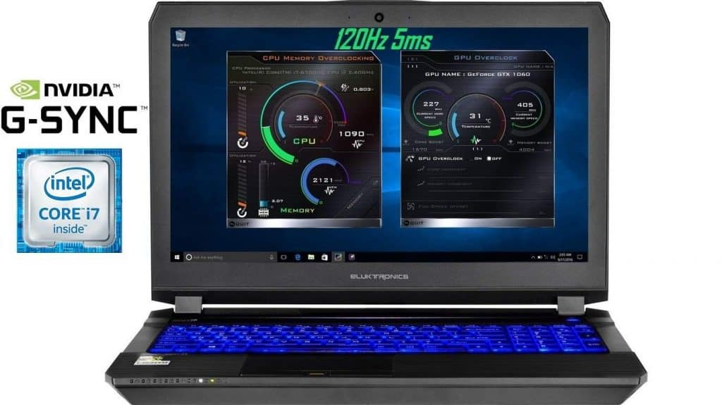 Image of the Eluktronics Pro-X P650HP6-G Laptop in full view.