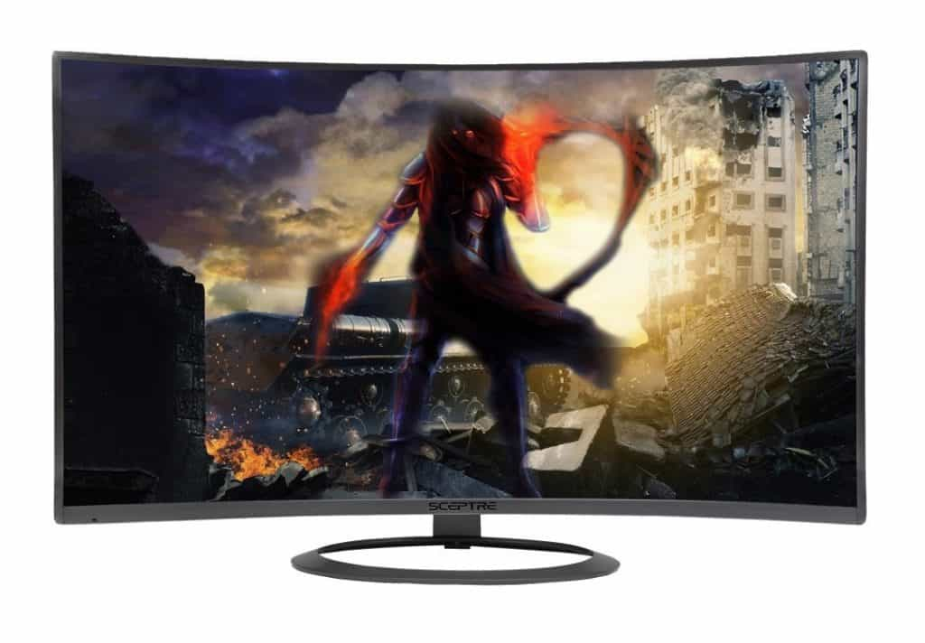 Image shows the display of the Sceptre C278W-1920R Monitor