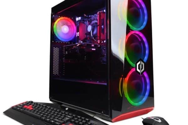 A front view of the CyberpowerPC Gamer Xtreme VR GXiVR8060A7 desktop