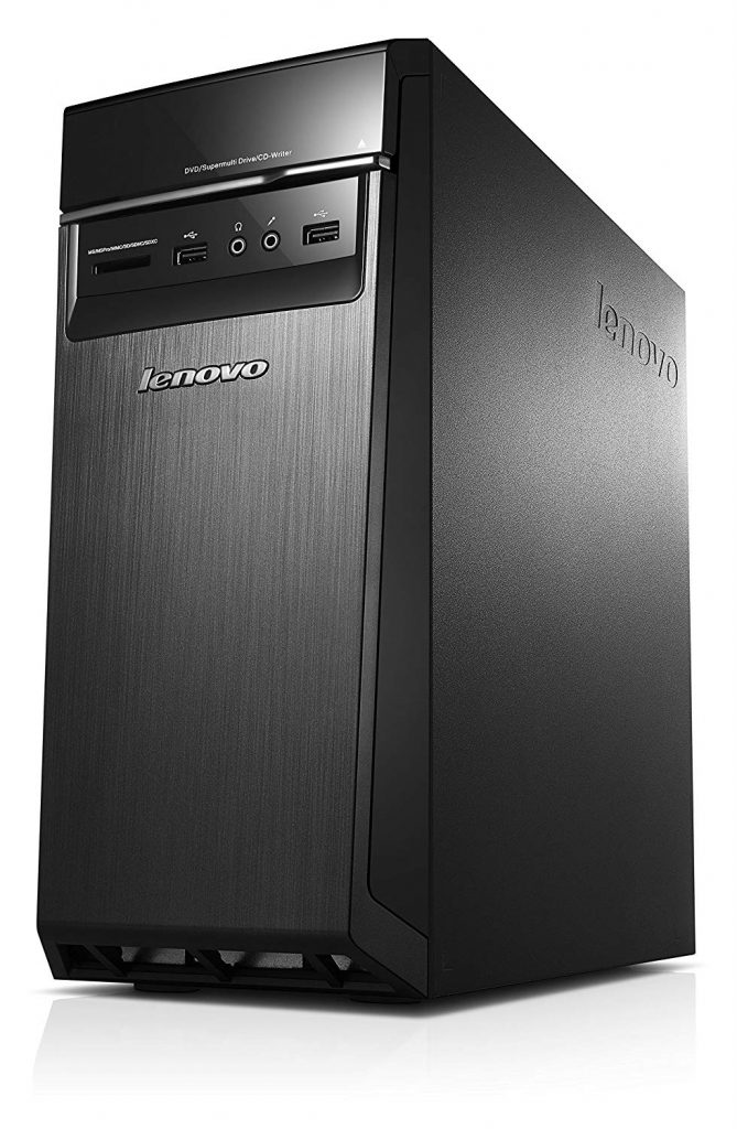 A side view of the Lenovo H50 desktop