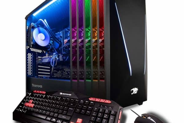 Image shows the iBuyPower Pro Trace 9240 front and side panel view