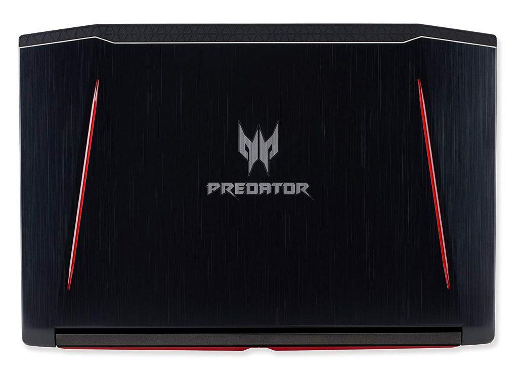 The Acer Predator Helios 300 PH315-51-78NP laptop's all black case