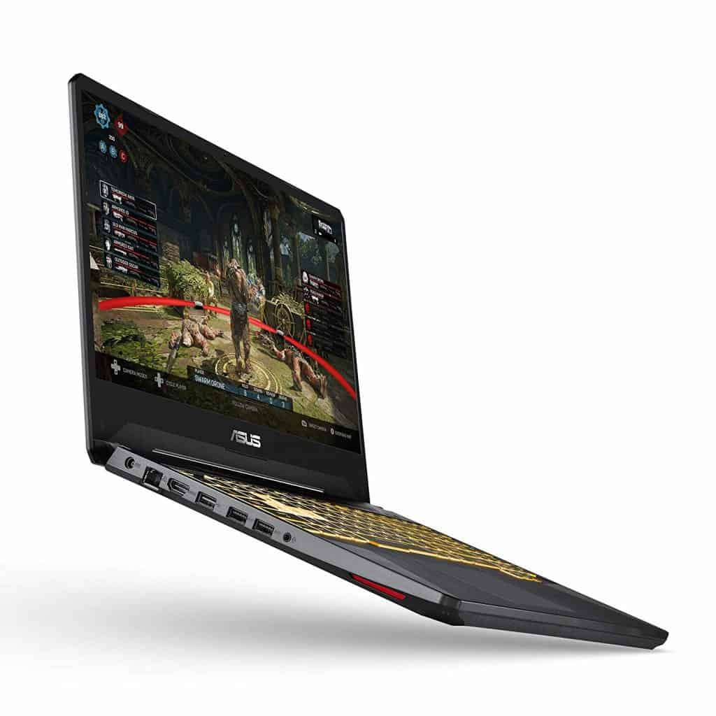 The Asus TUF505DU-EB74 side view