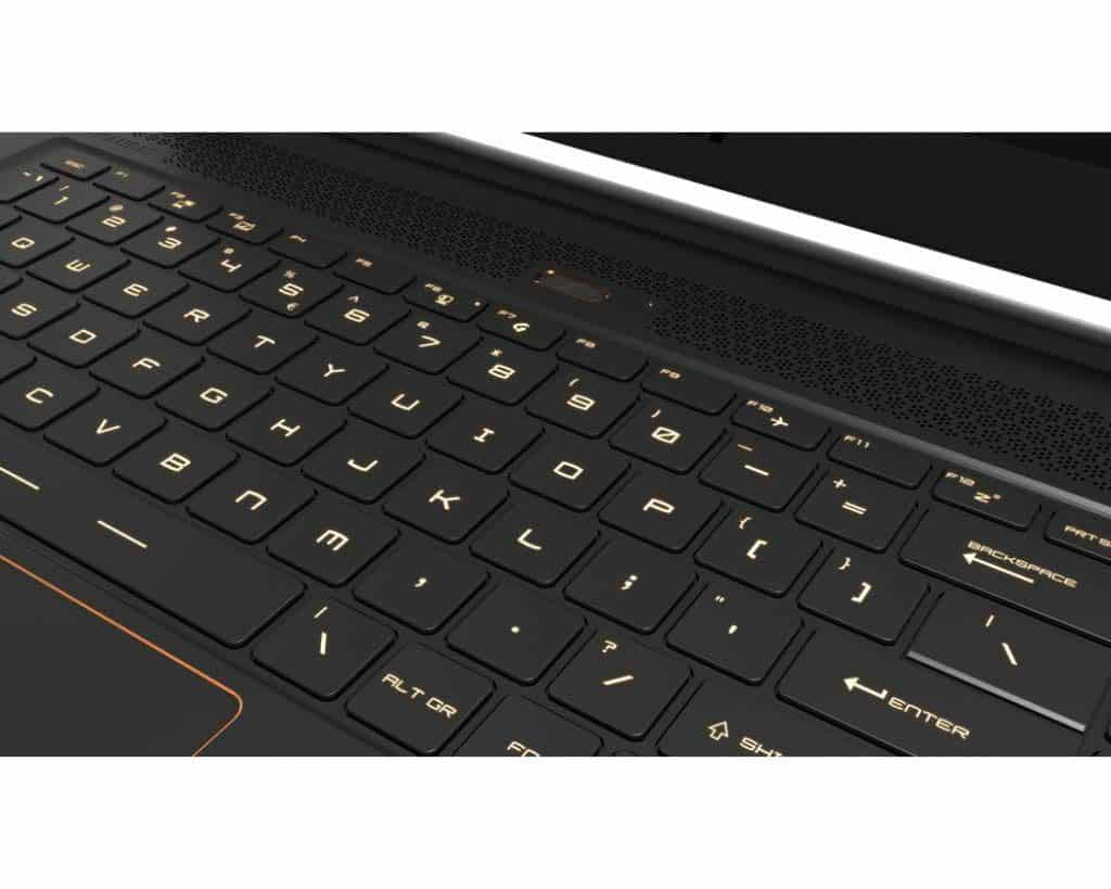 MSI GS65 Stealth THIN-068 keyboard