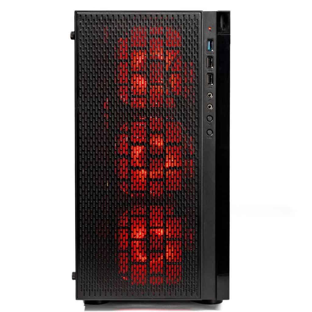A close up of the SkyTech [RX580 Version] Blaze desktop
