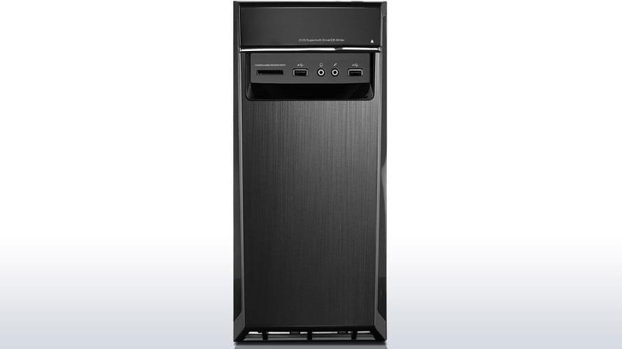 A close up look of the Lenovo Ideacentre 300 (90DA00LPUS) Desktop