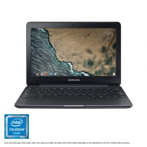 Picture of the Samsung Chromebook 3 laptop; the deal of the day on Amazon