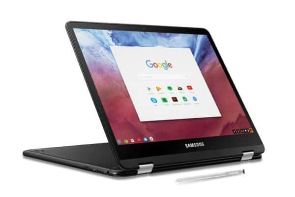 The Samsung Chromebook Pro (XE510C24-K01US) in tablet mode