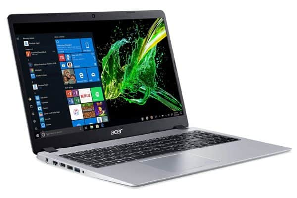 A good view of the Acer Aspire 5 A515-43-R19L laptop and its display