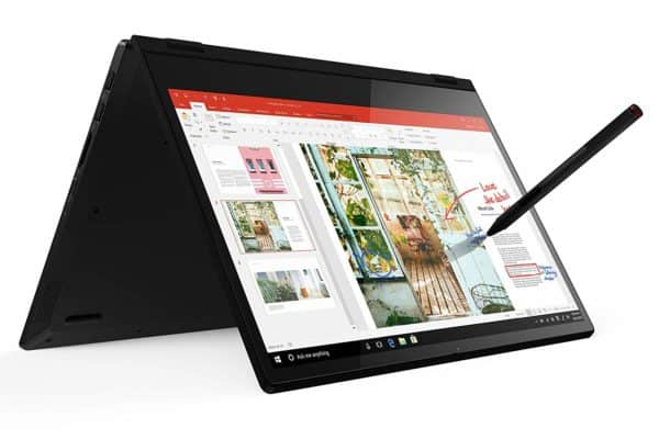 Image of the Lenovo Flex 14 81SS0005US in tent mode