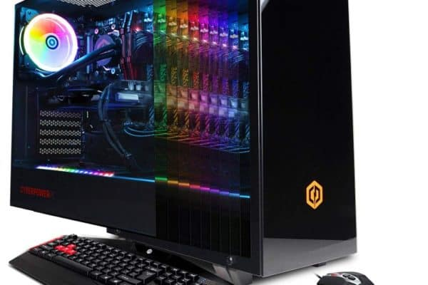 A good front view of the CyberPowerPC Gamer Xtreme GXiVR8080A8 desktop.