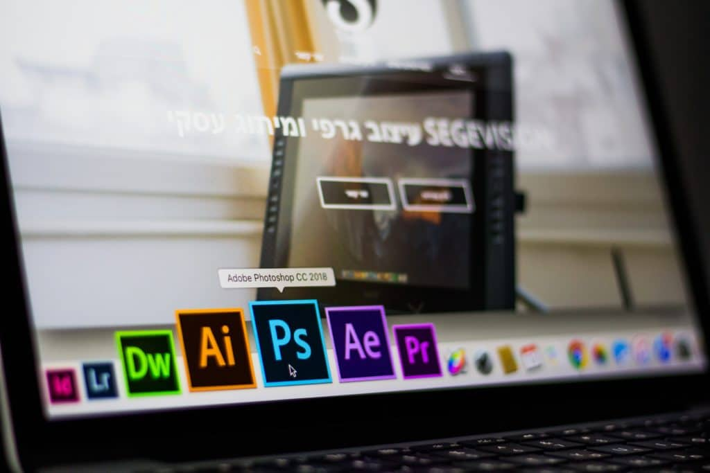 Laptop with Adobe Creative Cloud installed