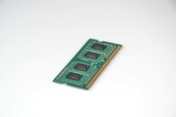 A laptop memory card