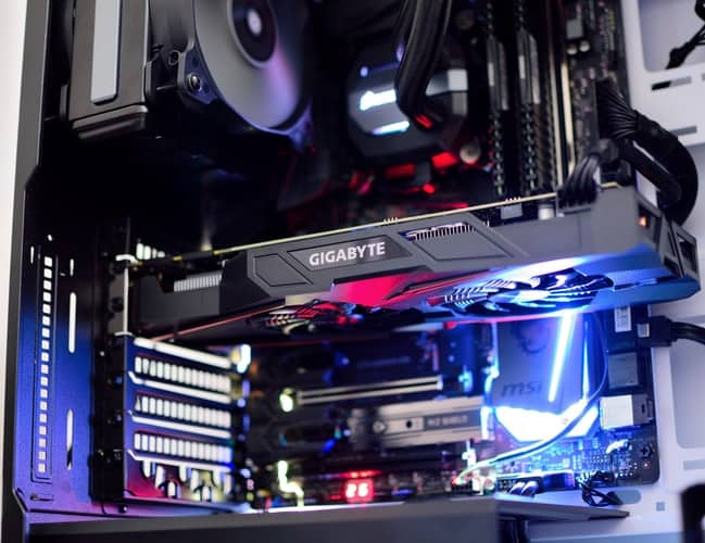 An inside view of a CPU