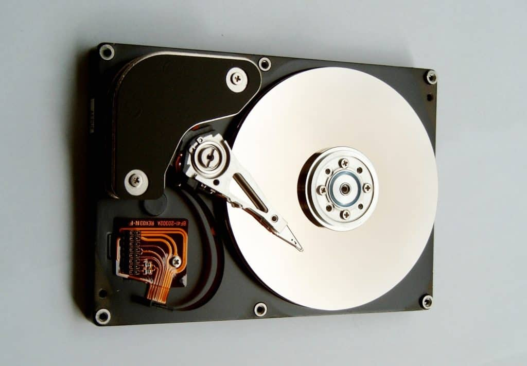 Hard disk drive storage for a laptop