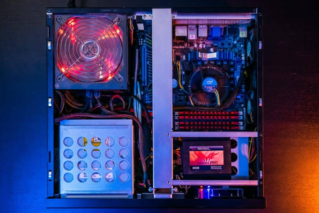 Computer with cool lights